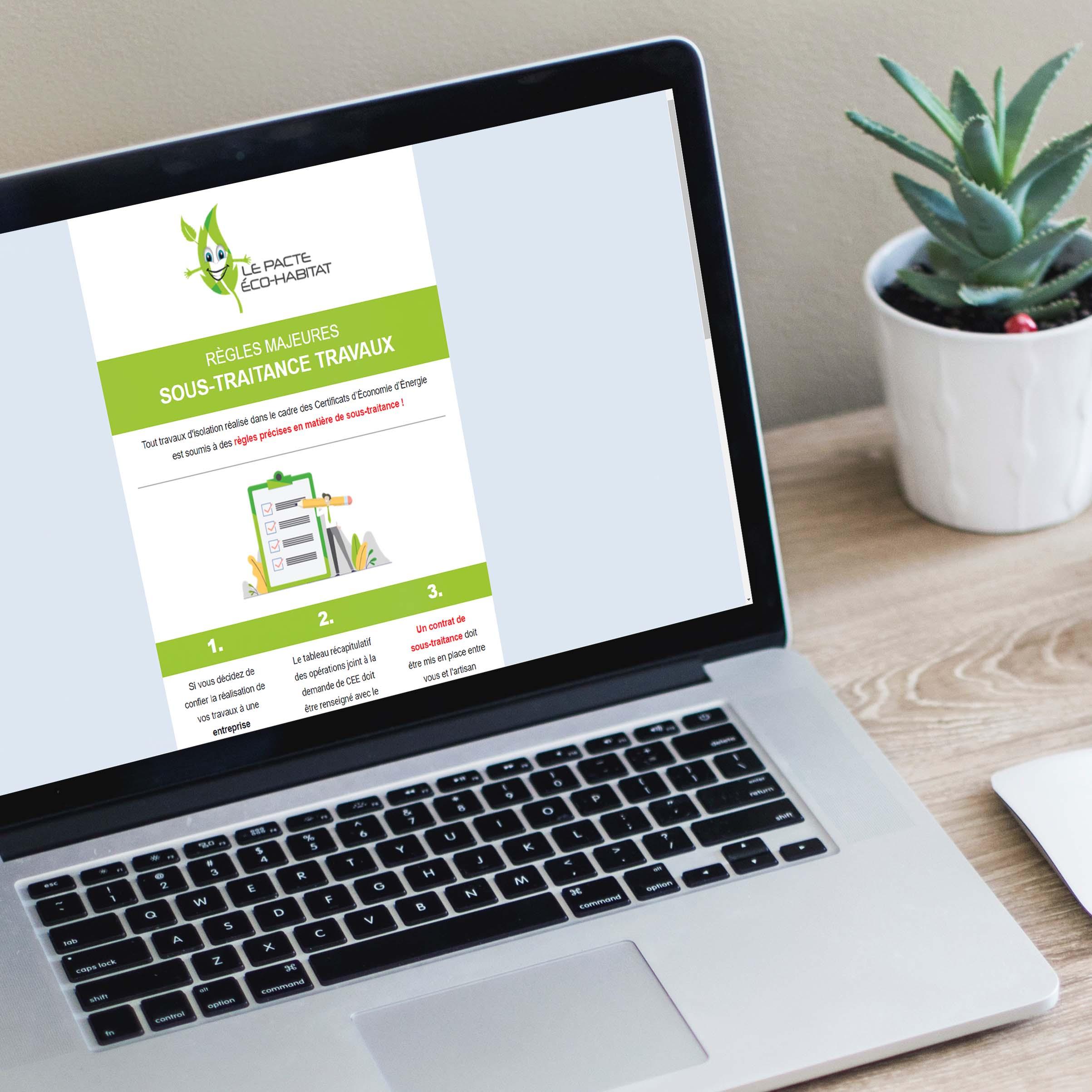 Fidélisation - Emailing Le Pacte Eco Habitat - Delphine PENGUILLY - agence marketing digital Nantes