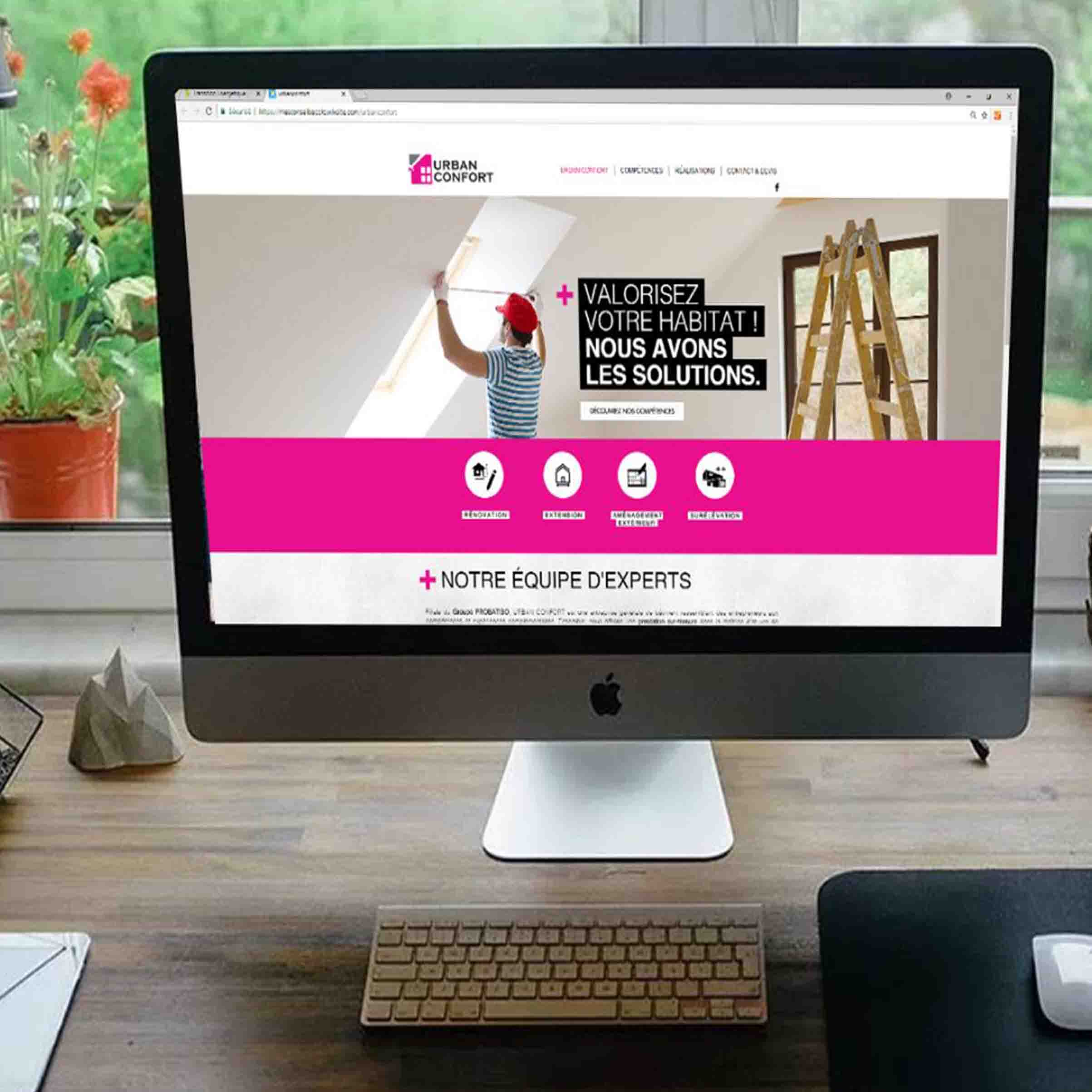 Projet de site internet URBAN CONFORT - Delphine PENGUILLY - agence marketing digital Nantes
