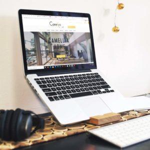 Projet site internet CAMELLYA HOME - Delphine PENGUILLY - agence marketing digital Nantes