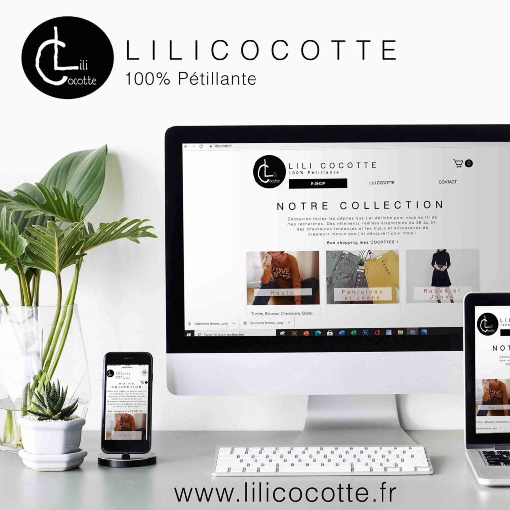 Publication Site en ligne – Lili Cocotte - Delphine PENGUILLY - agence marketing digital Nantes
