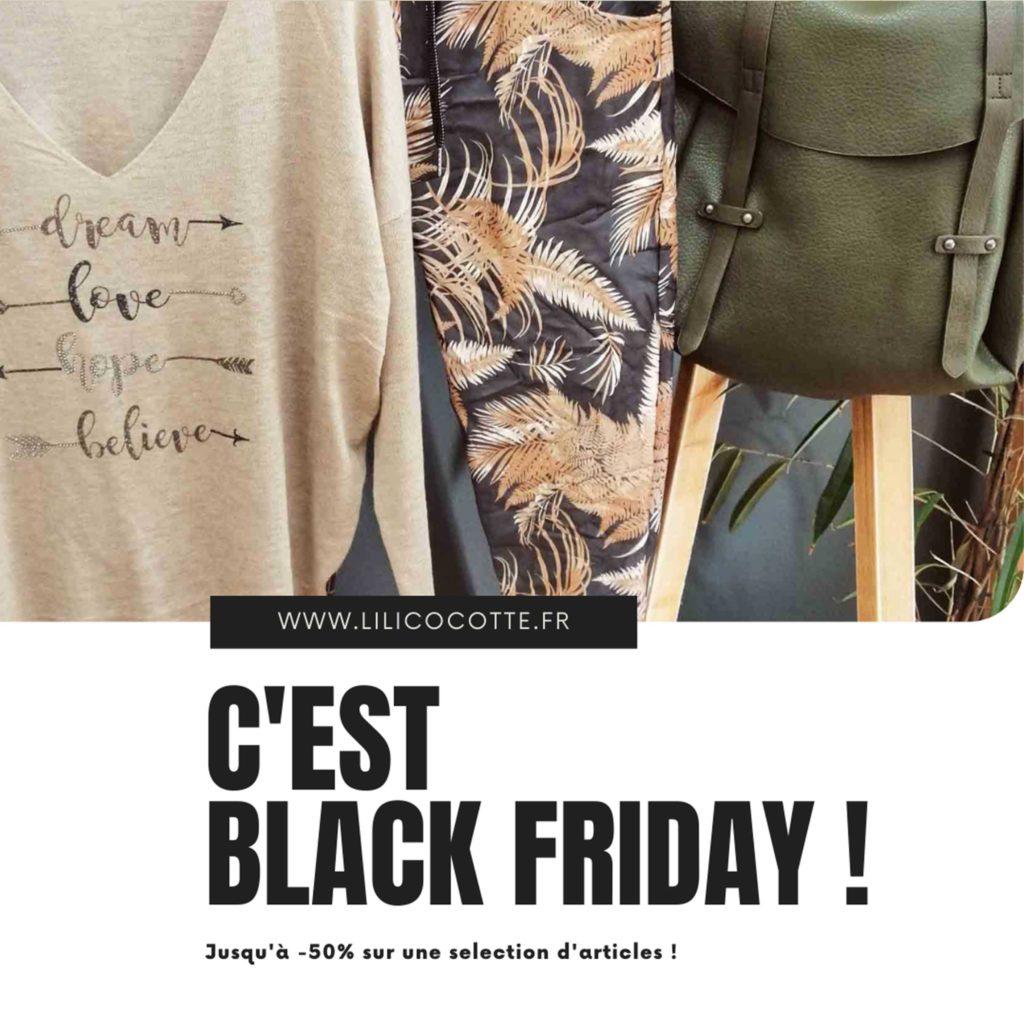 Publication BLACK FRIDAY – Lili Cocotte - Delphine PENGUILLY - agence marketing digital Nantes