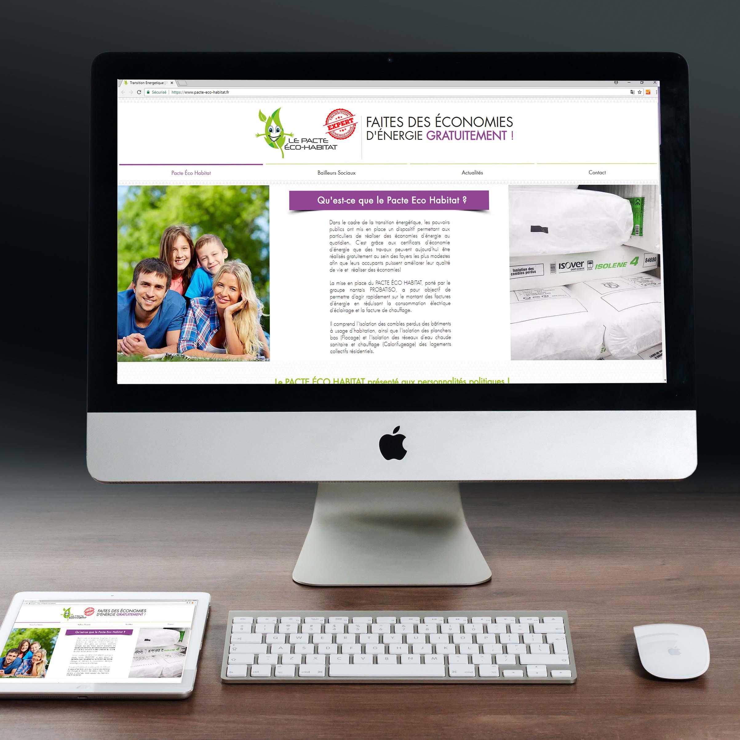 Site Internet Pacte Eco Habitat - Delphine PENGUILLY - agence marketing digital Nantes
