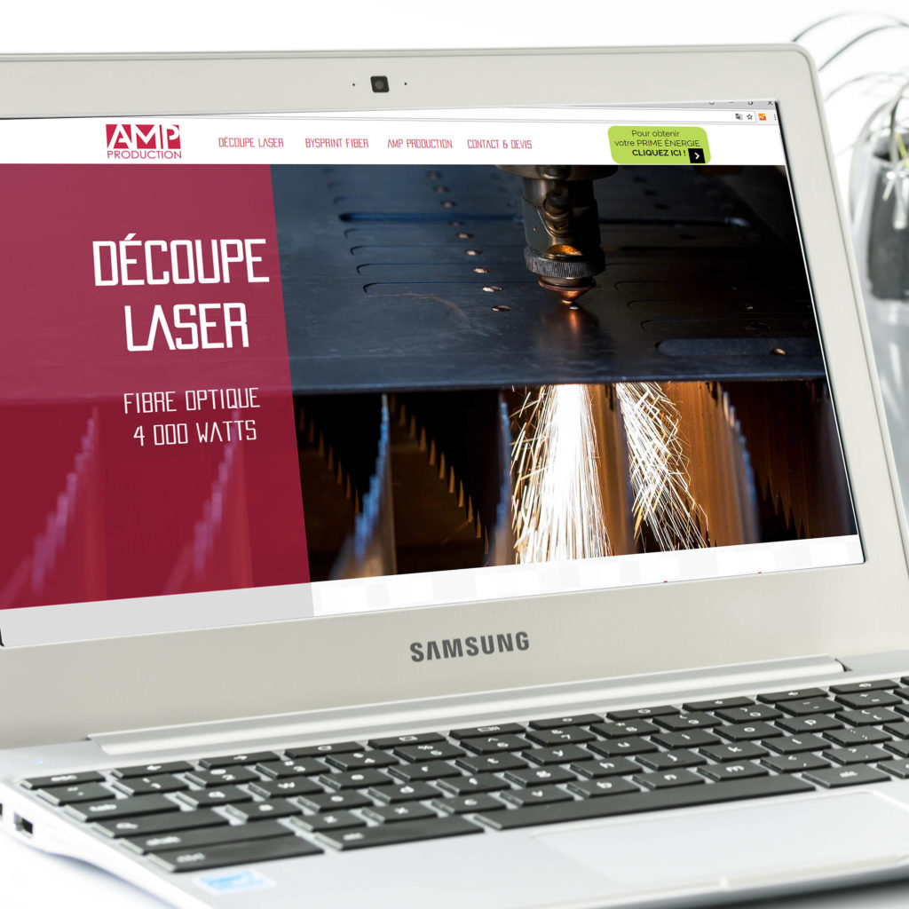 Site internet AMP PRODUCTION - Delphine PENGUILLY - agence marketing digital Nantes