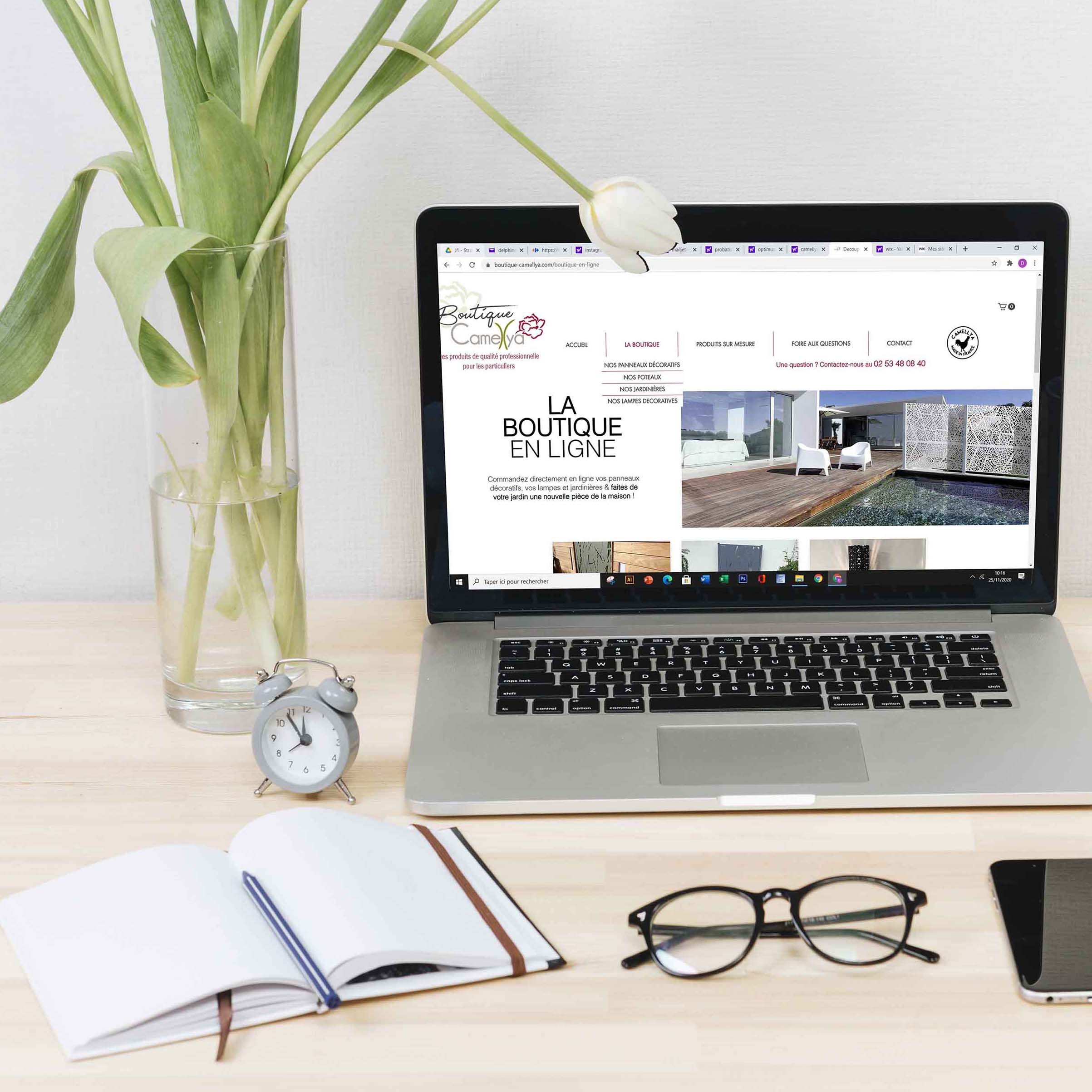 Site internet Boutique Camellya - Delphine PENGUILLY - agence marketing digital Nantes