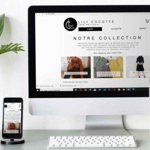 Boutique en ligne Lili Cocotte - Delphine PENGUILLY - agence marketing digital Nantes