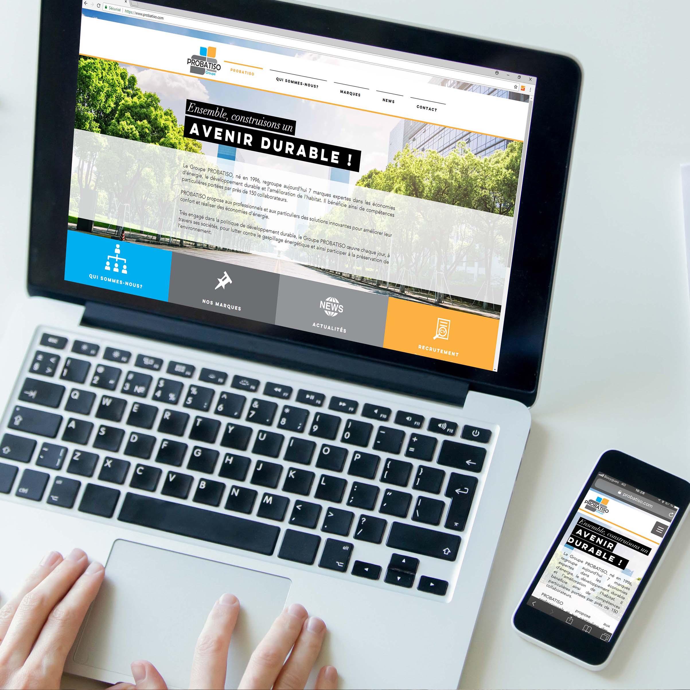Site internet GROUPE PROBATISO - Delphine PENGUILLY - agence marketing digital Nantes