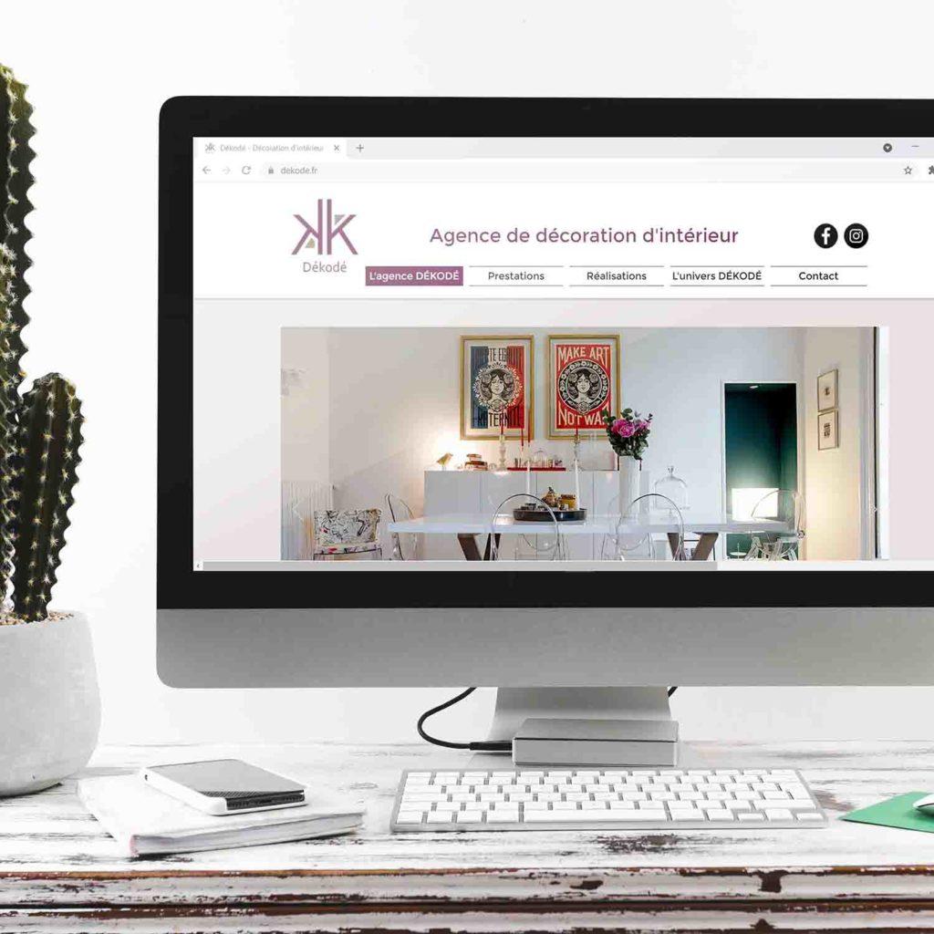creation du site internet www.dekode.fr décoratrice interieur a nantes