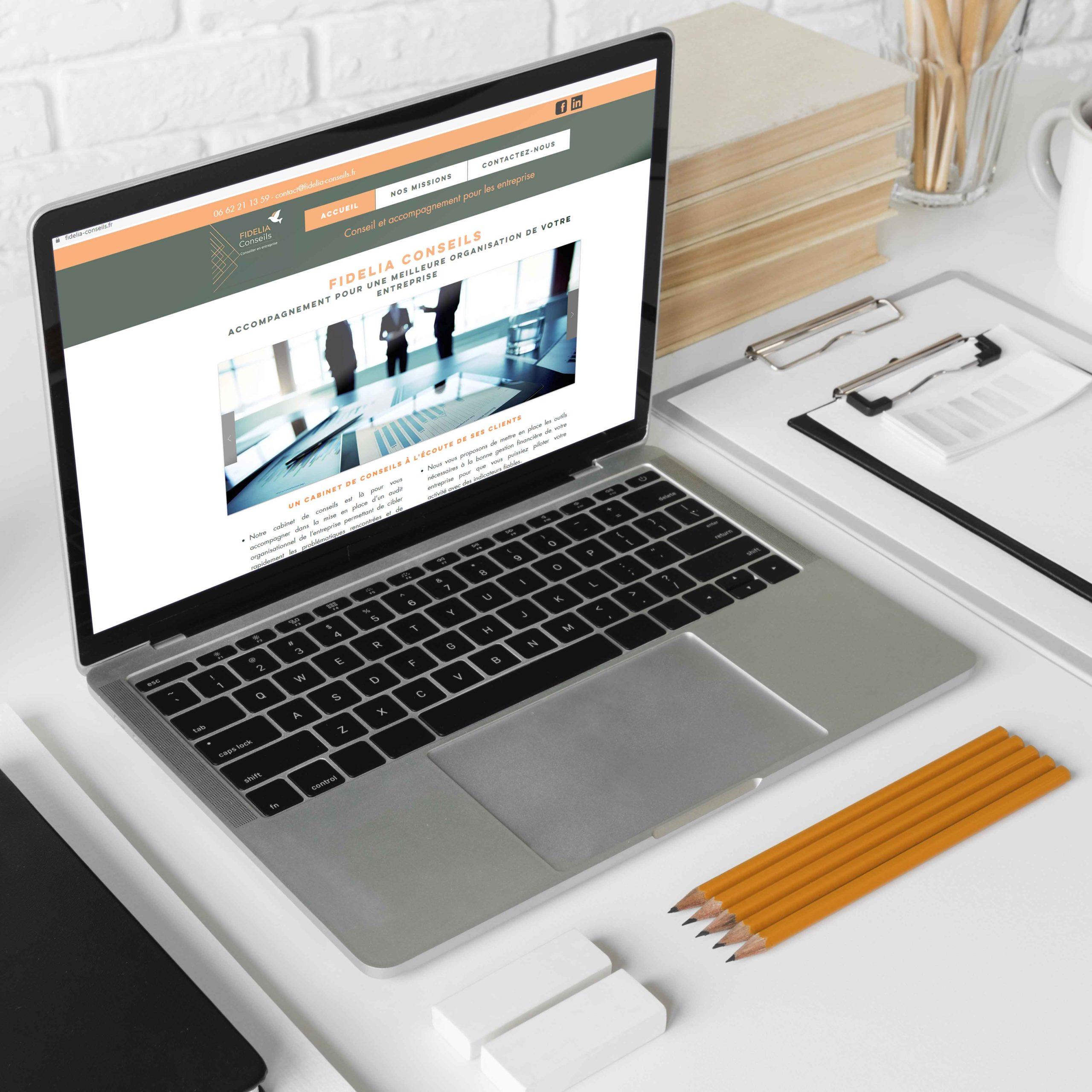 creation site internet fidelia conseils par delphine penguilly marketing digital à Nantes